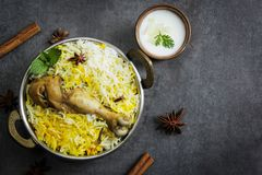 Fish Biryani Indian style fish and rice with spicy masala Royalty Free Stock Image