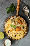 Fish Biryani made with basmati rice. Famous Indian and middle eastern food Royalty Free Stock Photography