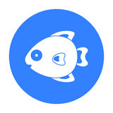 Fish black icon. Illustration for web and mobile design. Fish black icon. Illustration for web and mobile Royalty Free Stock Photography