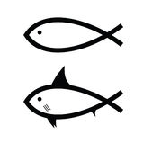 Fish black and white. Art Stock Photos