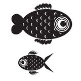 Fish black and white Royalty Free Stock Images