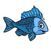 Fish blue cartoon Stock Image