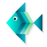 Fish blue. Isolated cartoon art Stock Photography