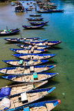 Fish boat in the Lang Co beach. Fish boat in the Lang Co bay, Hue, Vietnam Stock Photos