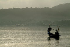 Fish boat in morning. Royalty Free Stock Photos
