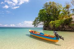 Fish boat on the paradise beach Royalty Free Stock Photos