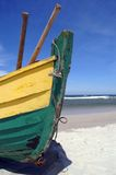 Fish-boat prow. Fishboat at beach from Poland royalty free stock photo