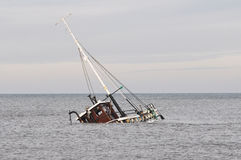 Fish boat Wreck Royalty Free Stock Image