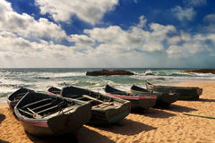 Fish boats Stock Photo