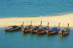 Fish boats in Andaman sea Stock Images