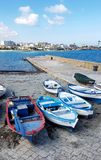 Fish boats in Gallipoli. Puglia, south Italy royalty free stock image
