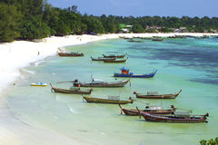 Fish Boats on the Lipe Island Royalty Free Stock Image