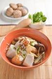 Fish boiled taro ginger and Shiitake Mushroom Chinese  asia styl Royalty Free Stock Images