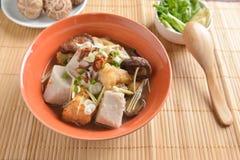 Fish boiled taro ginger and Shiitake Mushroom Chinese  asia styl Stock Photo