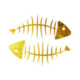 Fish Bone Background Vector Illustration. Fish Bone Background Isolated Vector Illustration EPS10 Stock Photography