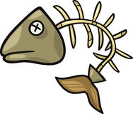 Fish bone clip art cartoon illustration Royalty Free Stock Photos