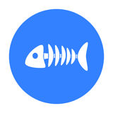 Fish bone icon of vector illustration for web and mobile. Design Royalty Free Stock Photography