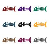 Fish bone icon of vector illustration for web and mobile Royalty Free Stock Photos