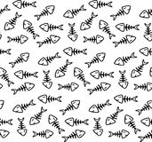 Fish bone pattern Stock Photo