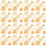 Fish Bone Seamless Pattern Abstract Ornament. Flat Vector Illustration Stock Images