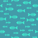 Fish bone, seamless pattern. Vector EPS 10 Stock Images