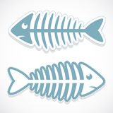 Fish bone sticker Royalty Free Stock Images