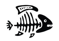 Fish bone, vector illustration Stock Image