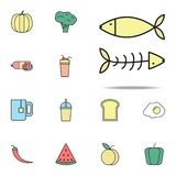 fish and bones colored icon. food icons universal set for web and mobile vector illustration