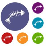 Fish bones icons set Stock Photo
