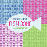 Fish bones pattern Stock Photo