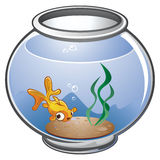 Fish Bowl. A cute little gold fish in a bowl Royalty Free Stock Image