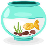 Fish bowl. Illustration of isolated fish bowl on white background Stock Photography