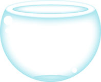 Fish bowl. An empty fish bowl, could be the next home of a small fish or could be the next thing broked in your house, it's up to you, what it is Stock Images
