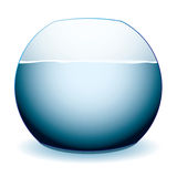 Fish bowl. Glass fish bowl illustration with shadow and white background Royalty Free Stock Photo