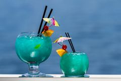 Fish Bowl cocktail stock images