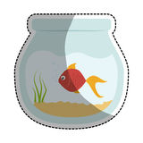 Fish bowl icon. Over white background. colorful design. vector illustration Royalty Free Stock Photos