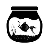Fish bowl icon. Over white background. vector illustration Royalty Free Stock Photos