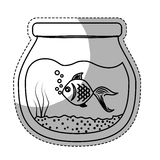 Fish bowl icon. Over white background. vector illustration Royalty Free Stock Image