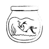 Fish bowl icon. Over white background. vector illustration Stock Photo