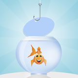 Fish in the bowl. Illustration of fish in the bowl Stock Photography