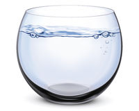 Fish bowl isolated. Vector illustration Royalty Free Stock Images