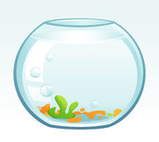 Fish Bowl. Vector illustration of a fish bowl Stock Photos