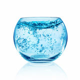 Fish bowl on white background Royalty Free Stock Photography