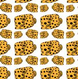 Fish-box pattern yellow stock illustration
