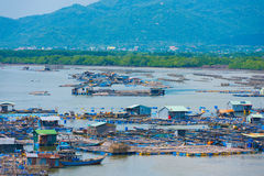 Fish breeding farms in southern Vietnam Royalty Free Stock Photos