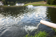 Fish breeding ponds Stock Image
