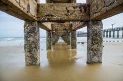 Fish bridge in the beach, Rayong, Thailand Stock Image