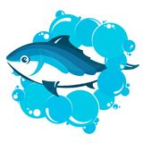 Fish in water bubbles. Fish in bubbles of water for fishing Stock Image