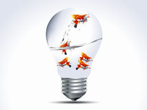 Fish in the bulb. Vector illustration of  fish in the bulb Royalty Free Stock Photo