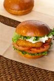 Fish burger Royalty Free Stock Photo